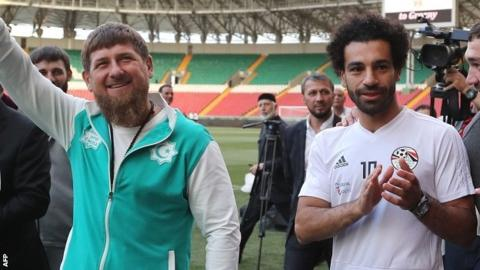World Cup 2018: 'Salah used for political capital' as Chechnya host Egypt training