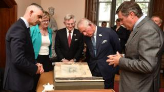 Prince Charles meets Sinn Fein leaders in Cork