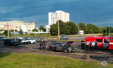 Car explosion in Cherkasy, - media