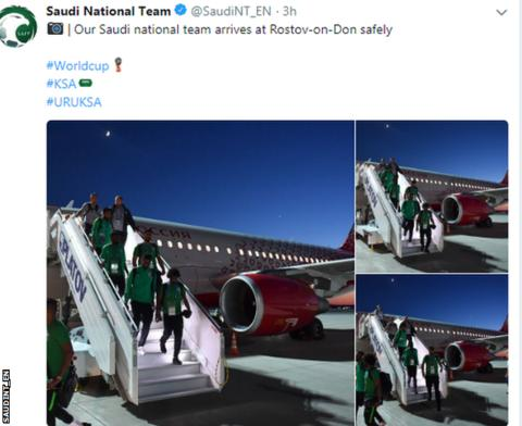 World Cup 2018: Saudi Arabia land safely after plane fire