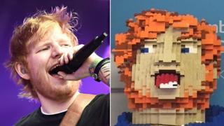 Ed Sheeran donates Lego head to local charity shop