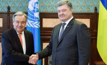 Poroshenko, Guterres discuss deployment of UN peacekeeping mission in Donbas