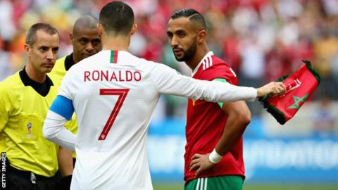 World Cup 2018: Referee denies asking Cristiano Ronaldo for shirt in Morocco game