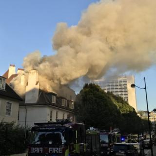 London Euston pub fire: Crews tackle blaze near station