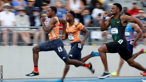 Noah Lyles runs fastest 100m of year in 9.88secs