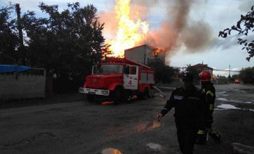 Distillery caught fire in Ternopil region, residents evacuated
