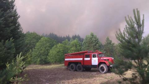 Rescue teams localize fire in Chornobyl exclusion zone