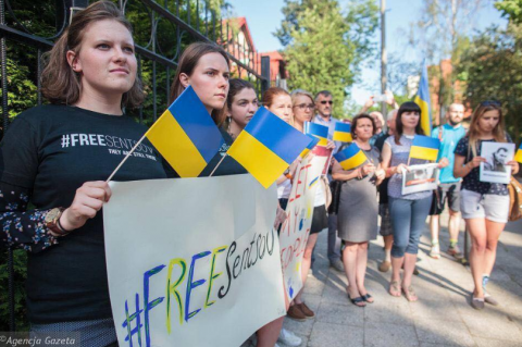 Rally in support of Oleg Sentsov takes place in Kyiv