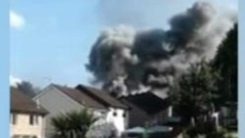 Llanbradach fire: Five in hospital after house explosion