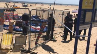 Child seriously hurt on Norfolk beach inflatable