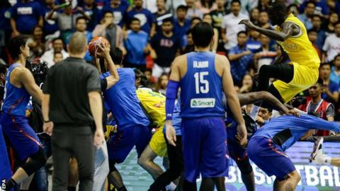 Philippines v Australia basketball: Mass brawl at World Cup qualifier