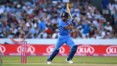 England v India: KL Rahul hits 101 not out in eight-wicket victory for tourists