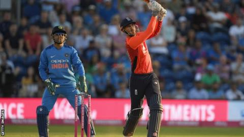 England v India: Alex Hales guides home side to Cardiff win