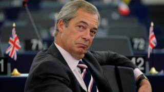 Nigel Farage criticised over photo with protected shark