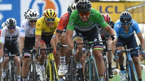 Tour de France: Peter Sagan takes second win in first hilly stage