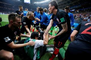 World Cup 2018: Lensman caught in Croatia victory pile