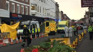 Salisbury street cordoned off by police after man falls ill