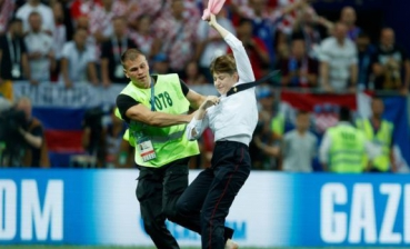 Pussy Riot ran onto the field during 2018 World Cup finals