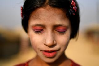 The unique makeup of Rohingya Muslim girls and women in Bangladesh