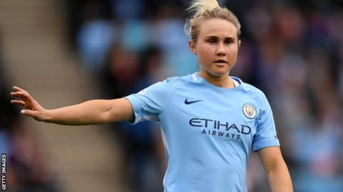 Izzy Christiansen: Manchester City Women midfielder set to join Lyon