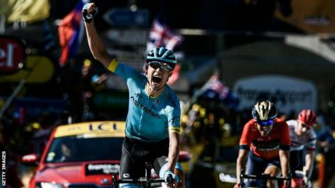 Tour de France 2018: Geraint Thomas keeps yellow jersey as Magnus Cort wins stage 15