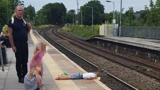 Trowbridge platform edge child not in danger, says dad