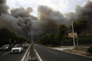 In pictures: wildfires devastate Greek region