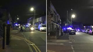Four charged after police shot at during London car chase