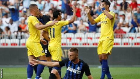 Chelsea 1-1 Inter Milan(5-4 on penalties): Cesar Azpilicueta scores decisive penalty