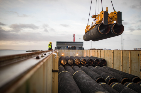 Nord Stream 2 pipe laying kicks off in Germany