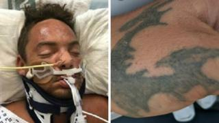 Plea to identify dragon tattoo man after River Thames rescue