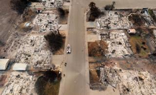 California wildfires: Eight images that reveal scale of devastation