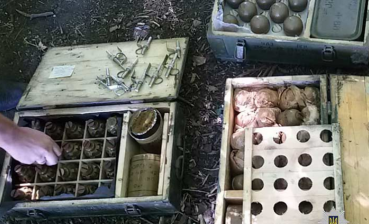 Law enforcers reveal weapon hideout in Dnipropetrovsk region