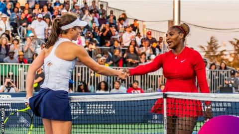 Serena Williams learned just before Johanna Konta loss that half-sister