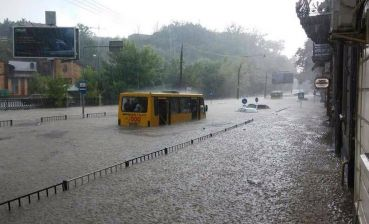 Lviv is flooded after heavy rain, - photo, video