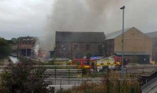 Crews tackle fire at Emma Bridgewater pottery factory in Stoke