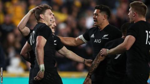 Rugby Championship: New Zealand beat Australia 38-13 in opener in Sydney