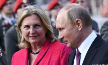 Putin attends wedding of Austrian Foreign Minister