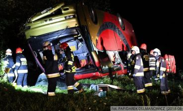 Bus crash in Poland: 10 children hospitalized