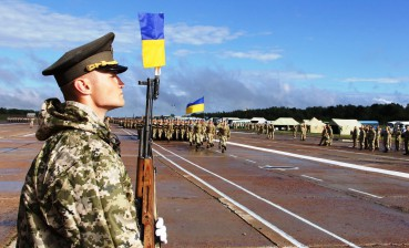 Rehearsal of military parade for Independence Day held in Kyiv