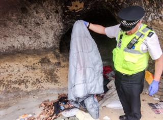 Two homeless people found living in caves in Nottingham