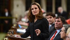 Canadian Foreign Minister Chrystia Freeland to visit Ukraine on August 28