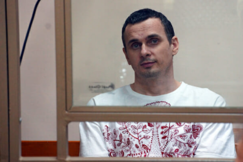 Priest visits Oleg Sentsov in Labytnangi