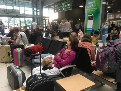 Kyiv airport Zhuliany cancels flights due to bad weather