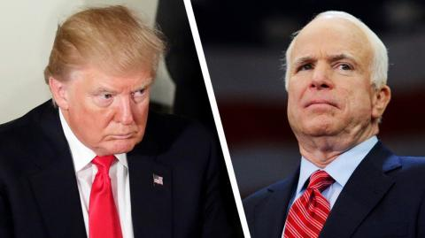 Trump not invited to the funeral of John McCain