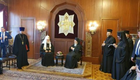 Meeting of Patriarch Bartholomew and Patriarch Kirill ends in Istanbul