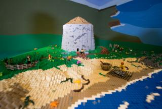 Ancient hillfort Dun Deardail recreated in Lego