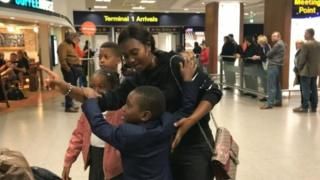Boy, 6, stranded in Belgium arrives back in the UK