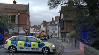 Police seal off Salisbury restaurant over 'medical incident'
