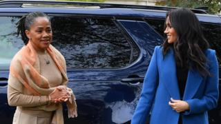 Meghan Markle and Doria Ragland at Grenfell cookbook launch